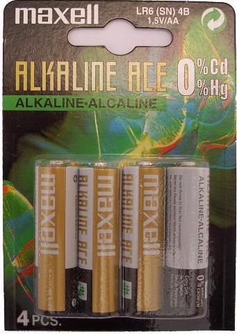 Blister de 4 piles alcalines AA LR6 1,5V