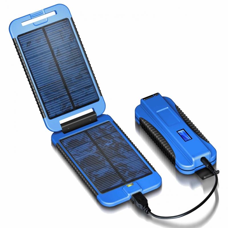 Batterie haute capacité avec panneau solaire