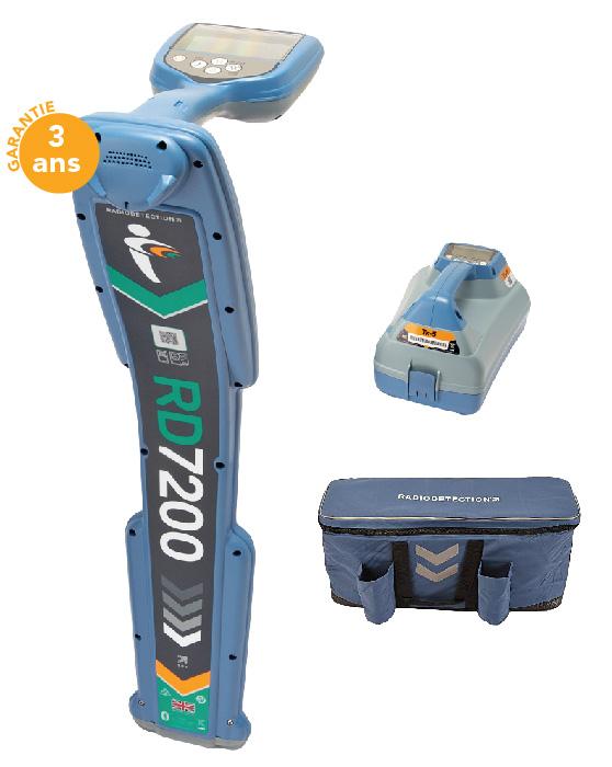 DETECTEUR RD7200 + ACCU (220V) + SAC
